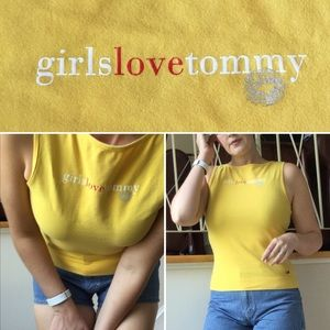 Vintage Tommy Hilfiger Yellow Tank Top
